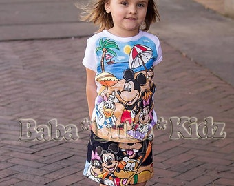Handpainted Boutique custom set 12 18 24 2 3 4 5 6 7 8 9 10 jean short or skirt set ETSYKIDS