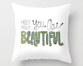 Beautiful Pillow Cover, Luxury Pillow, Anniversary Gift for Wife, Bridal Shower Gift, Girlfriend Gift, Typographic Pillow, Throw Pillow