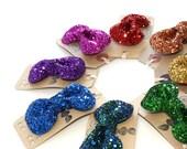 SALE Glitter Hair Bow - Rainbow Collection