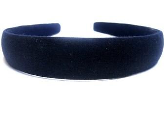 Navy Headband 3/4 Inch