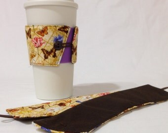 SALE!*!*!*! - Butterfly Coffee Cozie - *!*!*! 2 for 1 Mix and Match