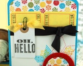 A Carnival Hello Handmade Card Baby