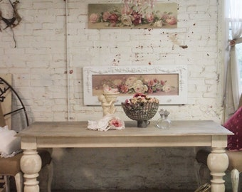 Painted Cottage Chic Shabby French Linen Dining Table TBL30