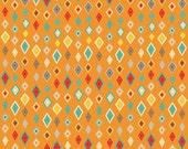 Crazy Diamond in Orange from Boy Crazy by Riley Blake Fabrics by the Half Yard