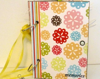 """SALE...SALE...Bright and Cheery Travel Journal--   """"memories"""""""