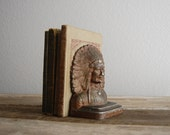 antique native american bookend