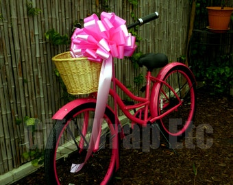 Big Hot Pink Candy Car Large Gift Bow