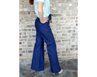 1970s jeans, high waist jeans, New old stock, Deadstock, 70s bell bottoms, flared jeans, Avondale, Size 7/8, Size S