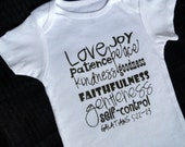 Fruit of the Spirit White Baby Bodysuit