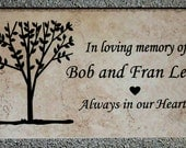 "Tree Dedication plaque. Maintenance Free 12""x6""x3/8"" "" -  Price includes shipping."