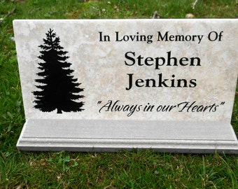 """Tree Dedication plaque. Maintenance Free 12""""x6""""x3/8""""  Price includes shipping."""