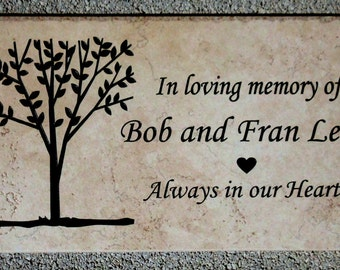 """Tree Dedication plaque. Maintenance Free 12""""x6""""x3/8"""" """" -  Price includes shipping."""