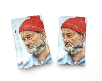 Bill Murray as Steve Zissou - Magnet - Portrait Painting