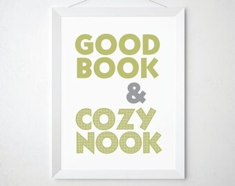Book Lover Gift - Reading Nook - Reading Poster - Book Print - Library Art Print