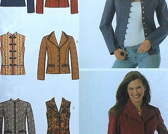 Jacket and Vest Sewing Pattern UNCUT Simplicity 4953 Sizes 14-20