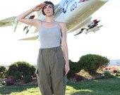 Completely new Vintage German Wool Military Pants - Capri green wool army pants- never been worn or washed
