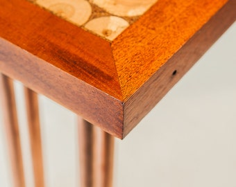 A Side Table - wood and copper