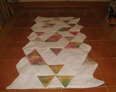 Pastel Quilted Table Runner - Nursery covering, runner, art quilt, wall hanging
