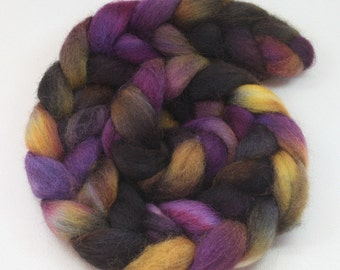 Constellation - hand dyed Norwegian wool roving - 4 oz