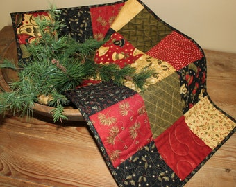 Christmas Merry Medley quilted table runner