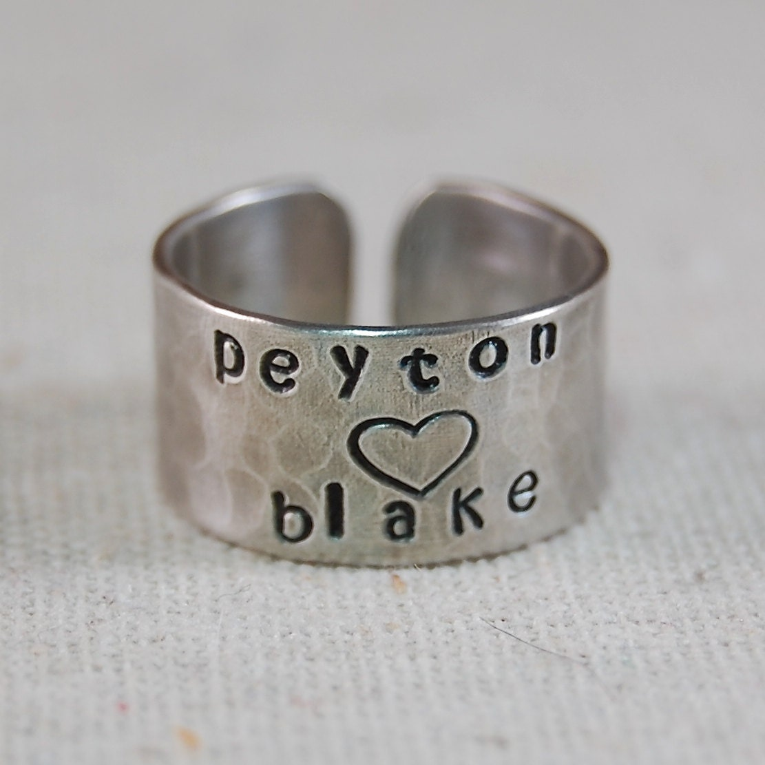 personalized ring sterling silver ring sted