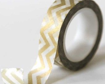 Chevron Gold Washi Tape V2