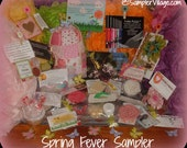 SALE - Spring Fever Sampler  - Handmade Samples from Sampler Village
