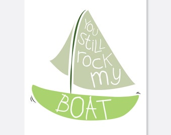 Rock My Boat Anniversary Card, Anniversary Card, Silly Anniversary Card, Cute Anniversary Card, Love Anniversary Card