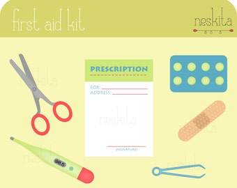 Clip art set - First aid kit