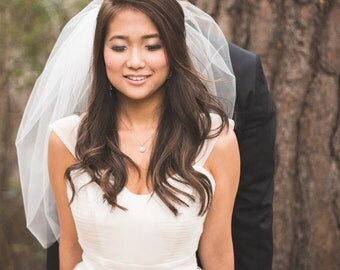 Julianna Inspired Tulle Wedding Dress with Cap Sleeves