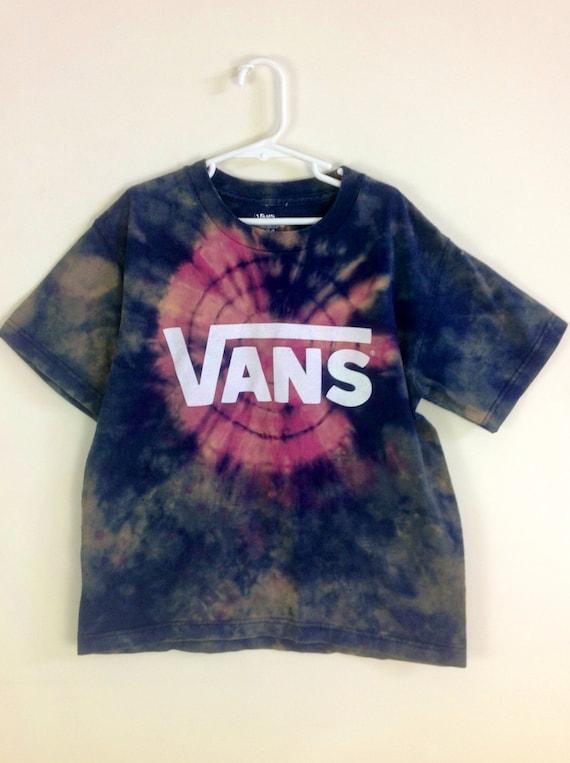 dyed tie dye boy s vans t shirt 10 12 medium