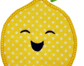 Happy Fruit LEMON Applique
