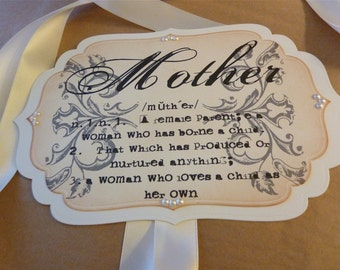Chair Sign for Mother-to-be, Baby Shower Vintage Style Sign, Shower Decoration
