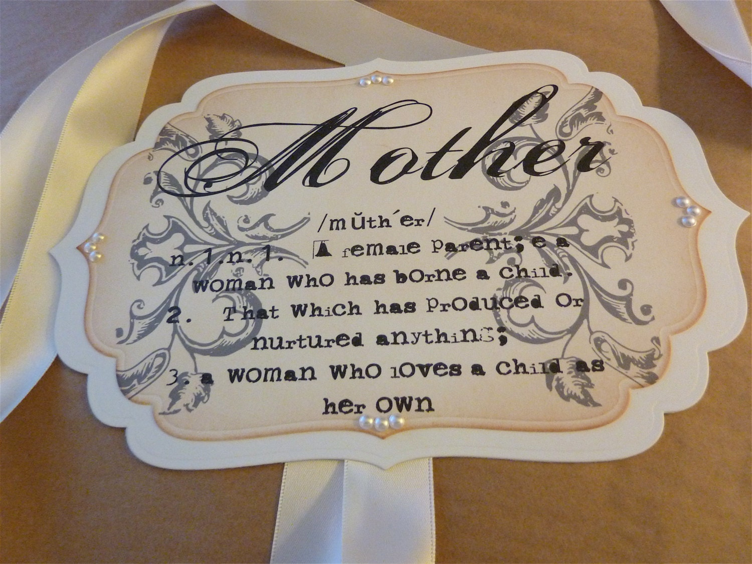 chair sign for mother to be baby shower vintage style sign