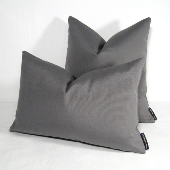 Grey Outdoor Pillow Cover Modern Pillow Cover Decorative
