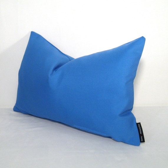 Modern Blue Outdoor Pillows : Blue Outdoor Pillow Cover Modern Blue Pillows by Mazizmuse