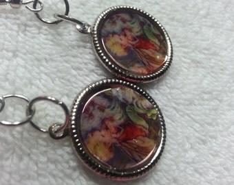 Fairy Earrings, Small Fairy dangle earrings,Fantasy Fairy Earrings