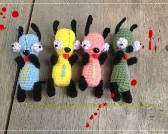 Zombie Dog 3.5inches - PDF amigurumi crochet pattern