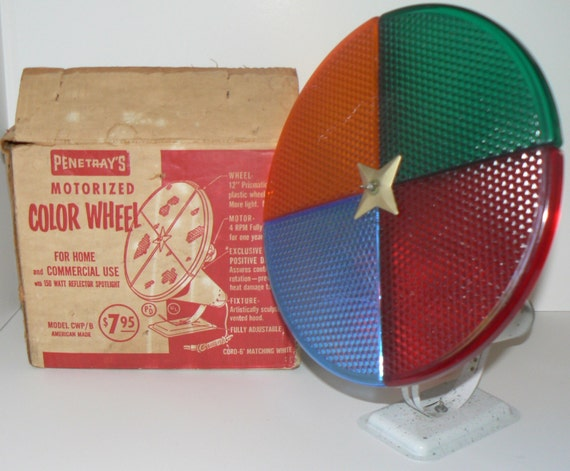 1950s Mid Century Penetray Motorized Color Wheel Light For
