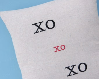 XOXO,  kisses and hugs,  pillow cover