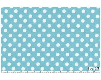 Lecien 1/4 inch Pencil Eraser Polka Dot Dots Fabric 4506 White on Light Blue