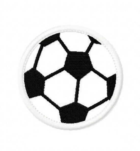 Soccer Ball Embroidery Machine Applique Design 2500
