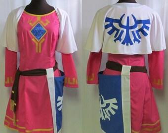 Legend of Zelda Skyward Sword Princess Zelda  Cosplay Costume Adult Women's Size