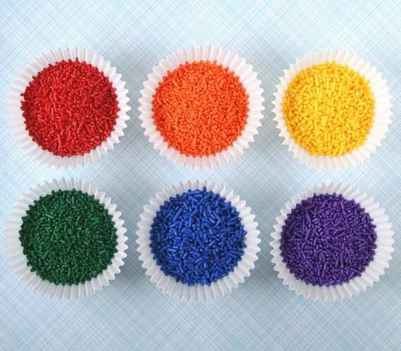 classic rainbow mix jimmies rainbow sprinkles red orange yellow green blue purple 12. Black Bedroom Furniture Sets. Home Design Ideas