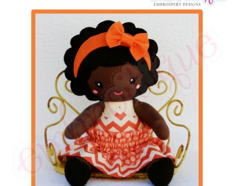 Doodley Dolls Zoey Add On PDF Sewing & Embroidery Pattern- Posh and Proper - Instant Download -Digital Machine Embroidery Design
