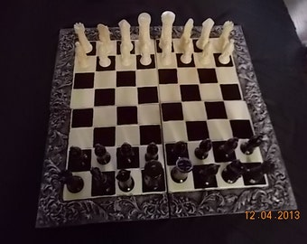 Large Ceramic Chess Set
