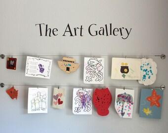 The Art Gallery Wall Decal - Children Artwork Display Decal - Kids Artwork Decal - Medium