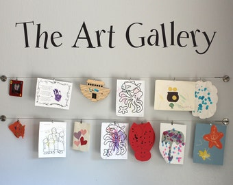 The Art Gallery Wall Decal - Children decal - Kids Artwork Display Decal - Large