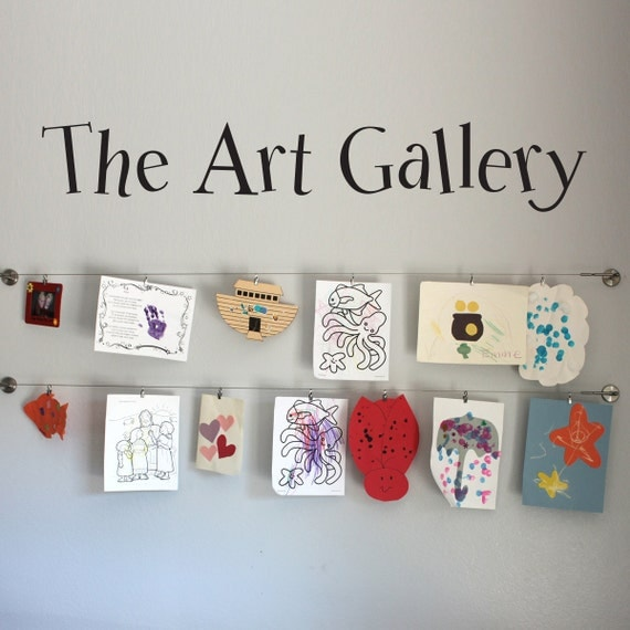 The Art Gallery Wall Decal Children decal Kids Artwork