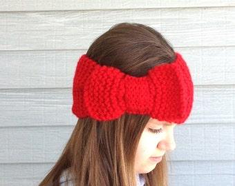 Red Headband  Ear Warmer